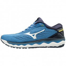 M4468 รองเท้าวิ่ง Mizuno Wave Sky 3-CAMPANULA/WHITE/BLAZING YELLOW