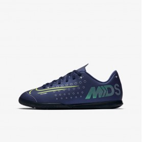 N4552 Indoor Court Football Shoe Nike Jr. Mercurial Vapor 13 Club MDS IC-Blue Void/White/Black/Metallic Silver
