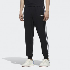 A4688 adidas Essentials 3-Stripes Tapered Cuffed Joggers-Black/White