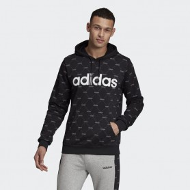 A4692 adidas Linear Graphic Hoodie-Black/Grey