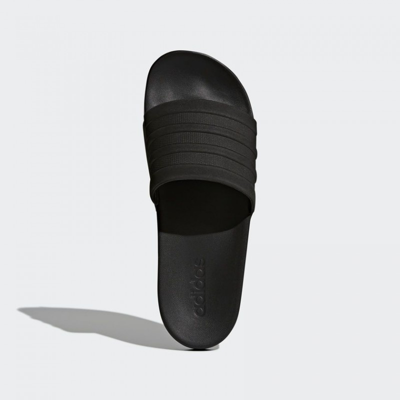 A0883 รองเท้า Adidas adilette Cloudfoam Plus Mono Slides-Black